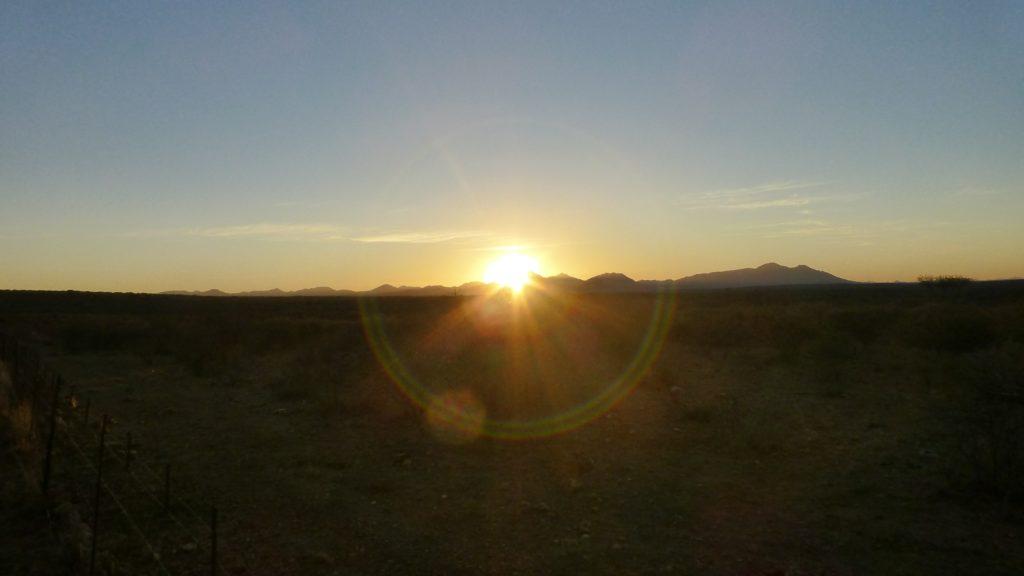 Sonnenaufgang bei Windhoek
